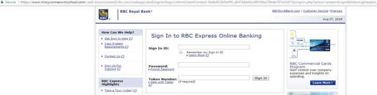 Royal Bank of Canada Phishing Campaign target