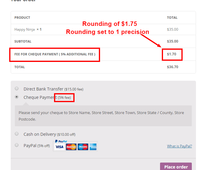 WooCommerce - Payment Gateways Discount and Fees