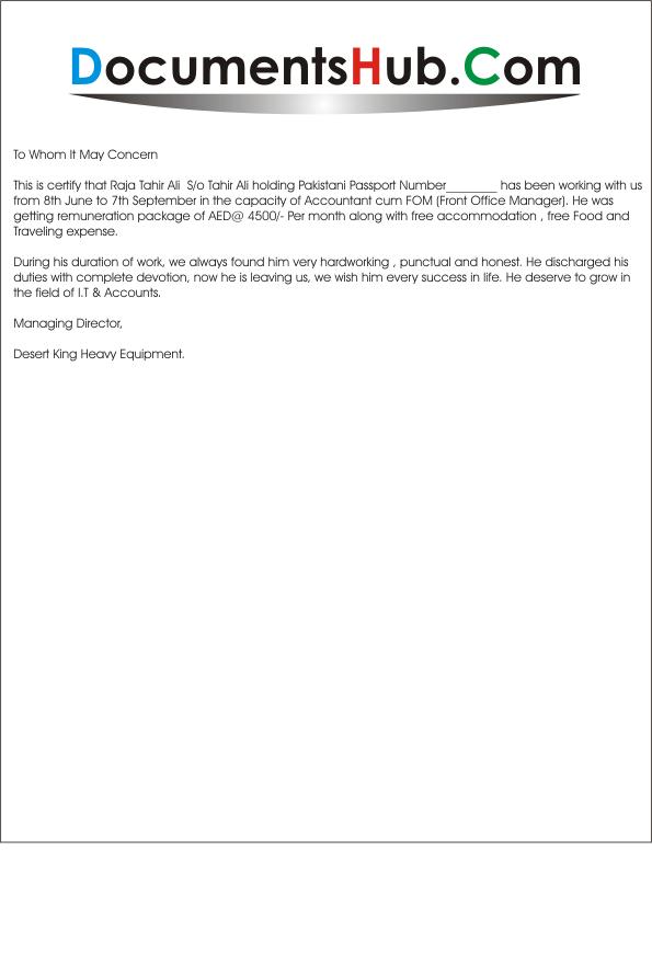 accountants letter