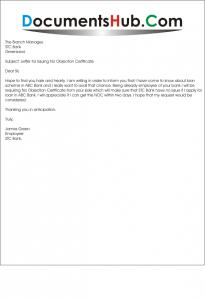 Noc Letter Format For Bank Loan Letter Format 2017