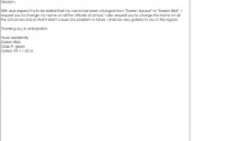 Application Letter Format For Passport