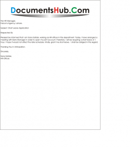 Leave Of Absence Letter Format - Best Template Collection