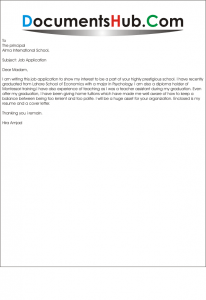 montessori teacher cover letter