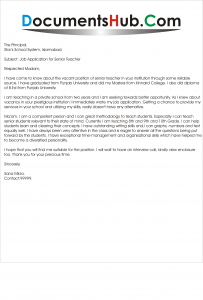 More Summer Teacher Cover Letter Examples  Teaching Cover Letter Examples