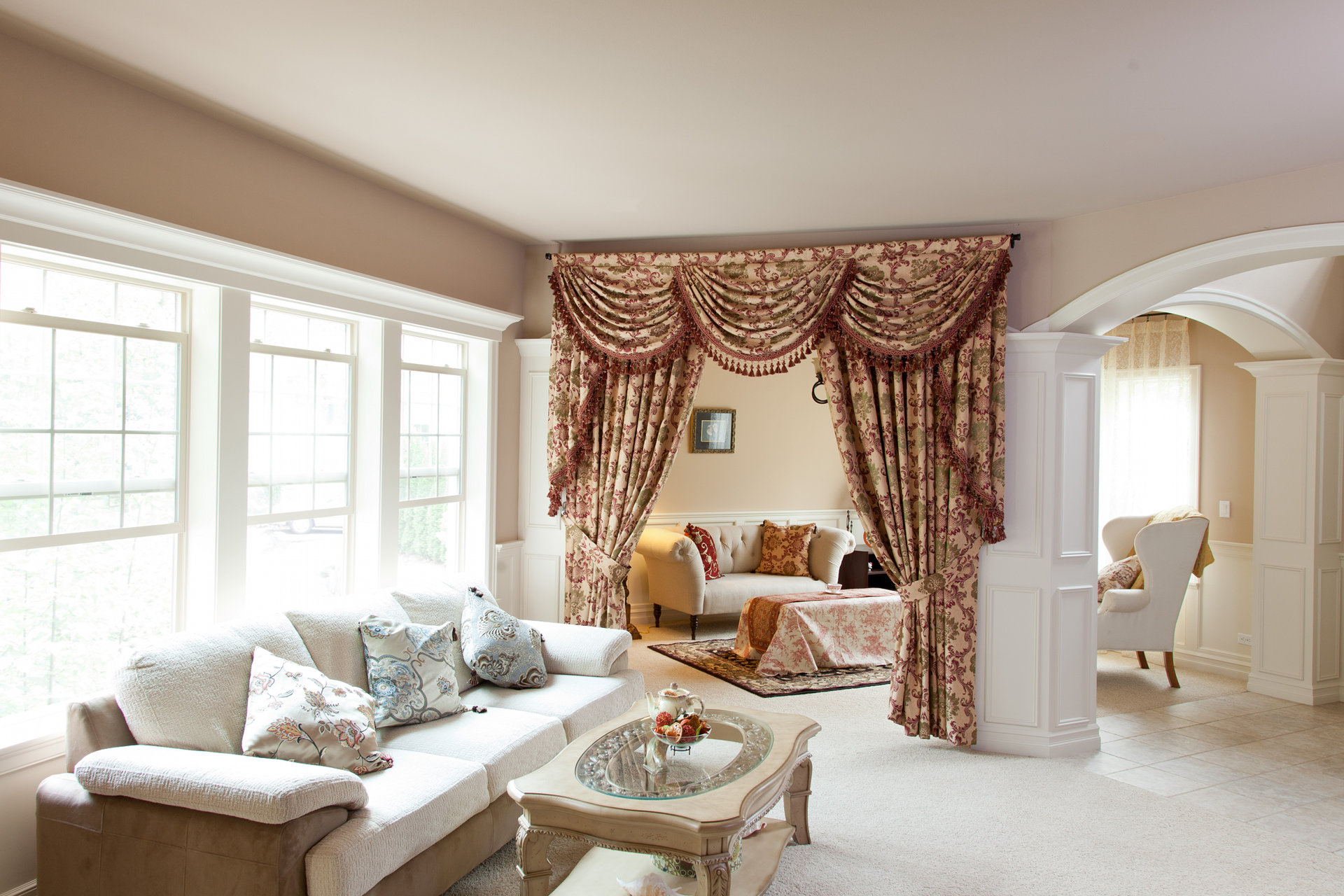 Swags And Tails Valance Curtain D S Rosy Queen