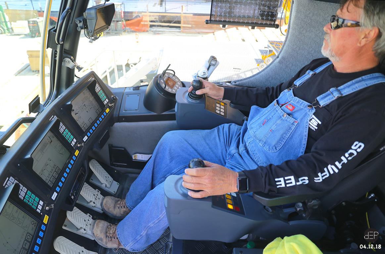 A Look Inside the Cab of a Liebherr LR 1750 Crawler Crane