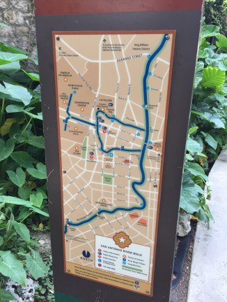 Map of the San Antonio River Walk
