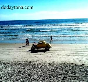 classic car on beach 2