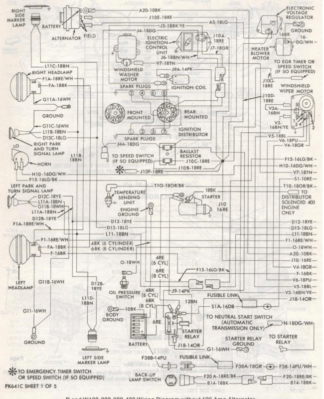 1987 dodge d100 wiring diagram  auto wiring diagrams snack