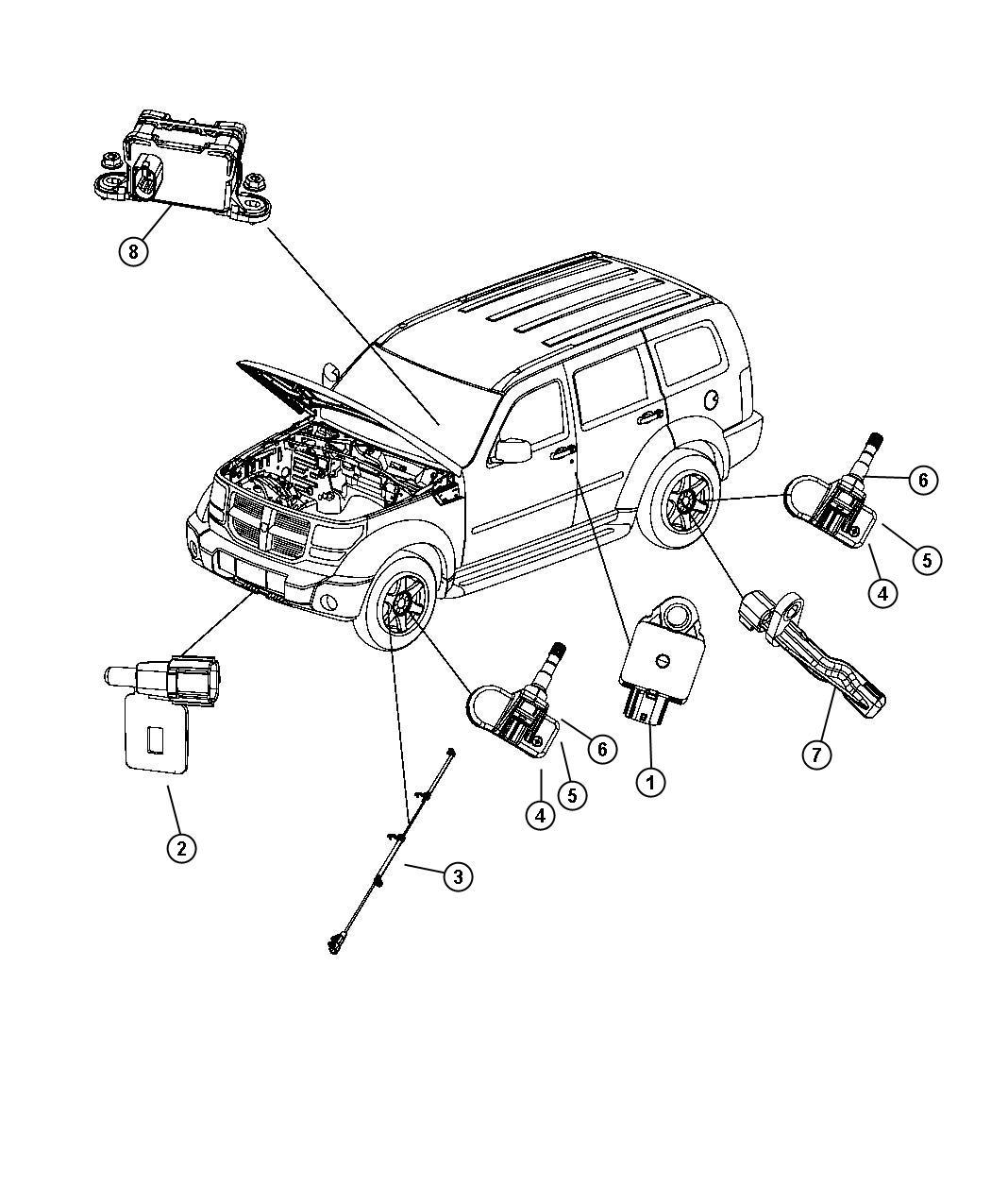 Where Is The Dymanics Sensor In A Dodge Nitro