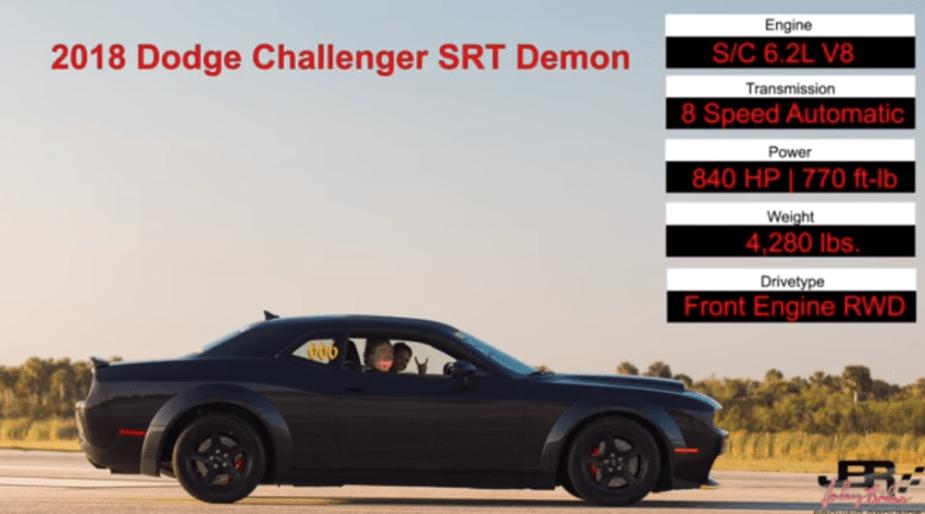 Dodge Demon Sets World Record