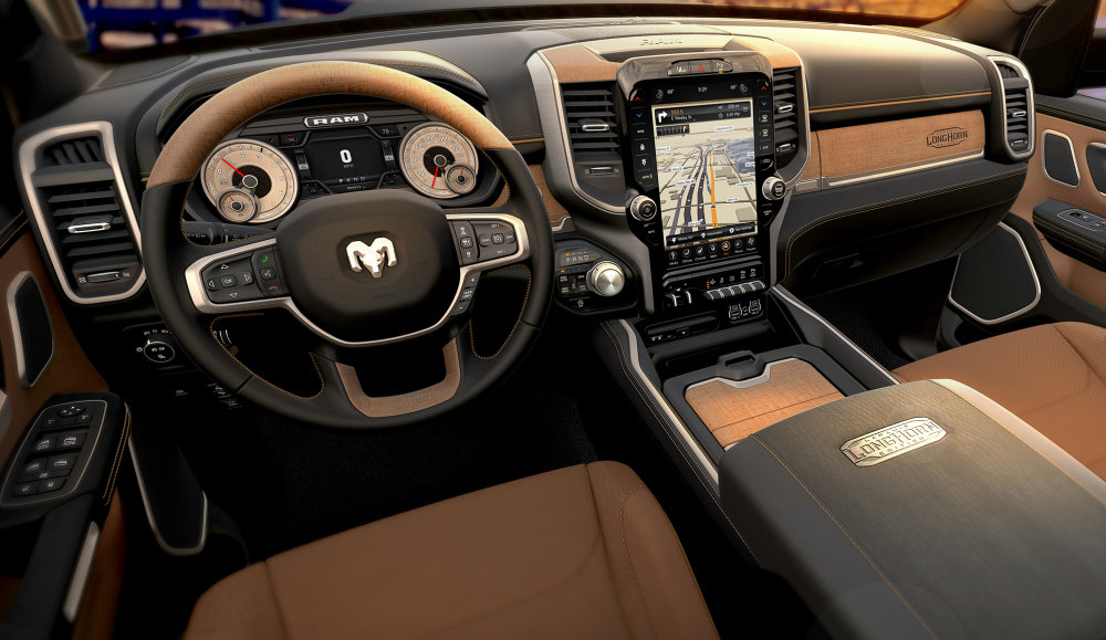 2019 Ram 1500 Laramie Longhorn Black Cattle Tan Interior