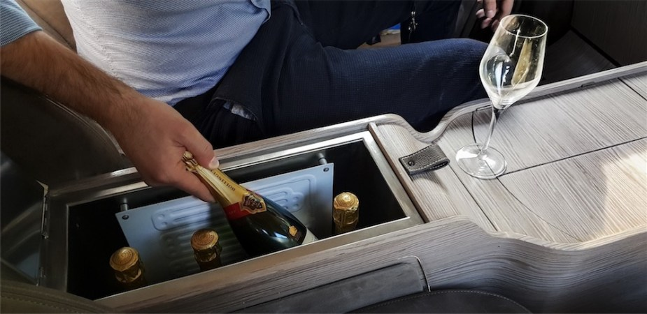 Aznom Atulux - because you need to transport your champagne in style.