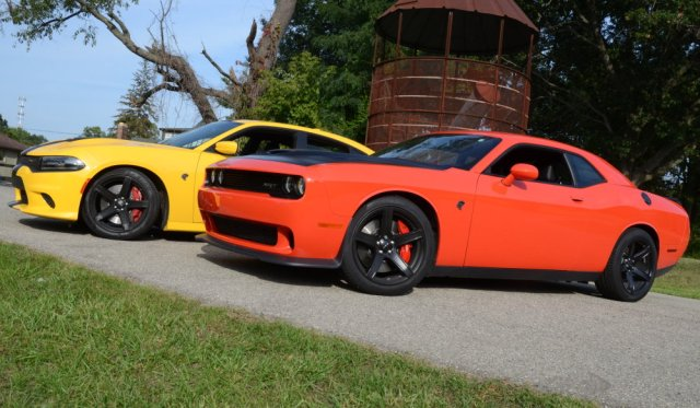 Hellcat Challenger and Charger Side by Side