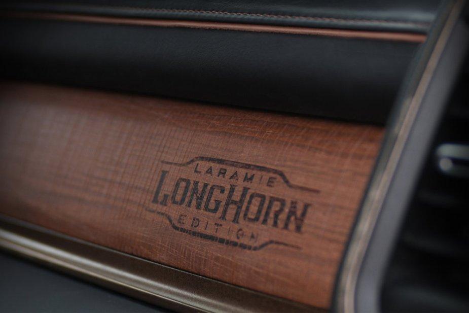 Ram 1500 Laramie Longhorn Branded Dash