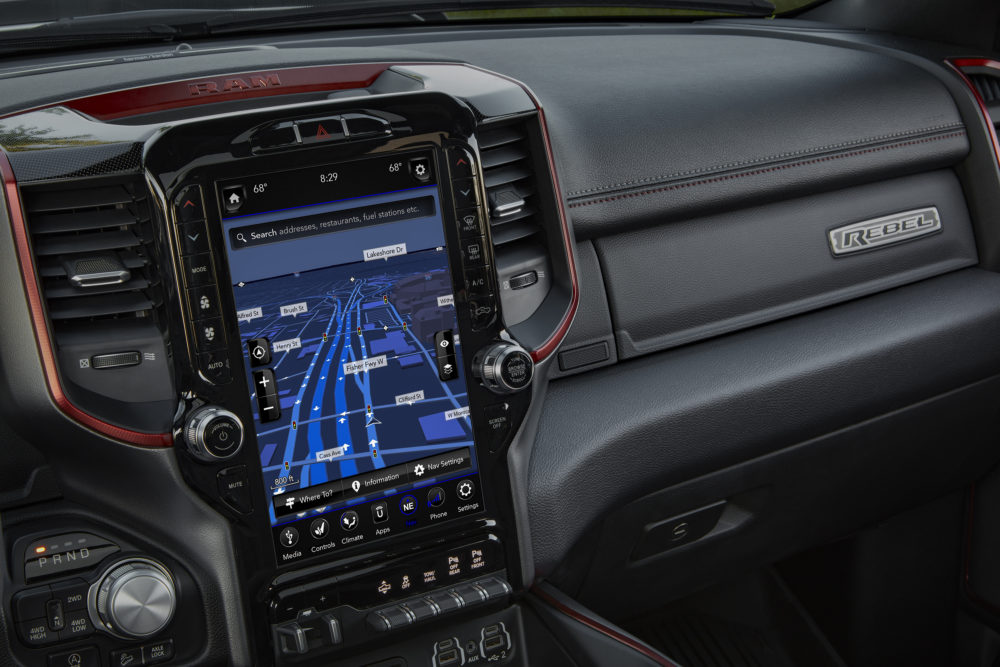 2019 Ram 1500 Rebel 12 with Uconnect 4C NAV and 12-inch touchscr