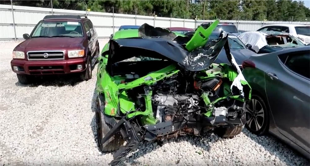 Migos Rapper's Crashed Hellcat Turns up at Salvage Auction ...
