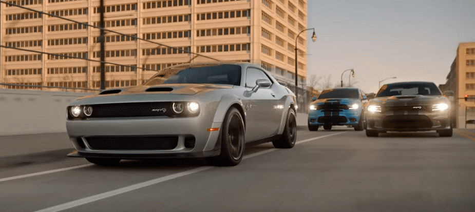 Dodge SRT lineup in Super Bowl LLII Ad