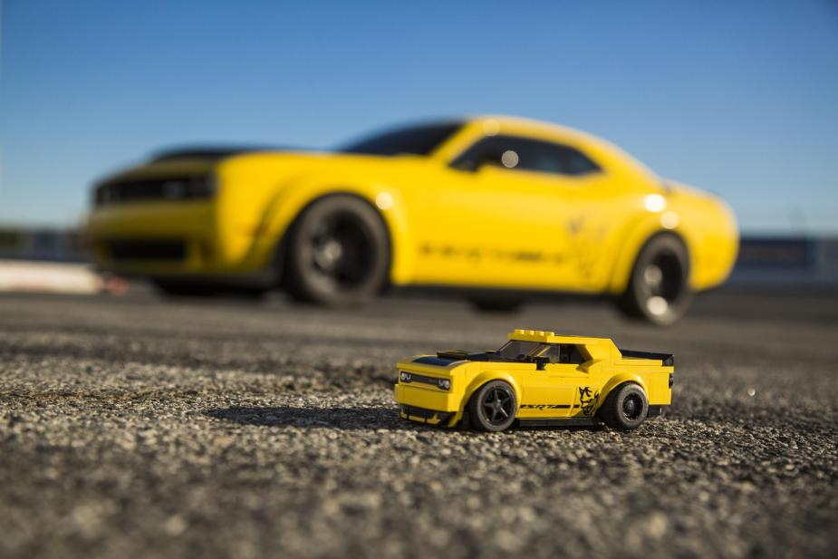 Lego Dodge Demon: Legendary Mopar Power, Kid-friendly Packaging
