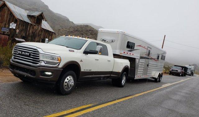 2019 Ram 3500 Laramie Longhorn Horse Trailer Driver's Corner