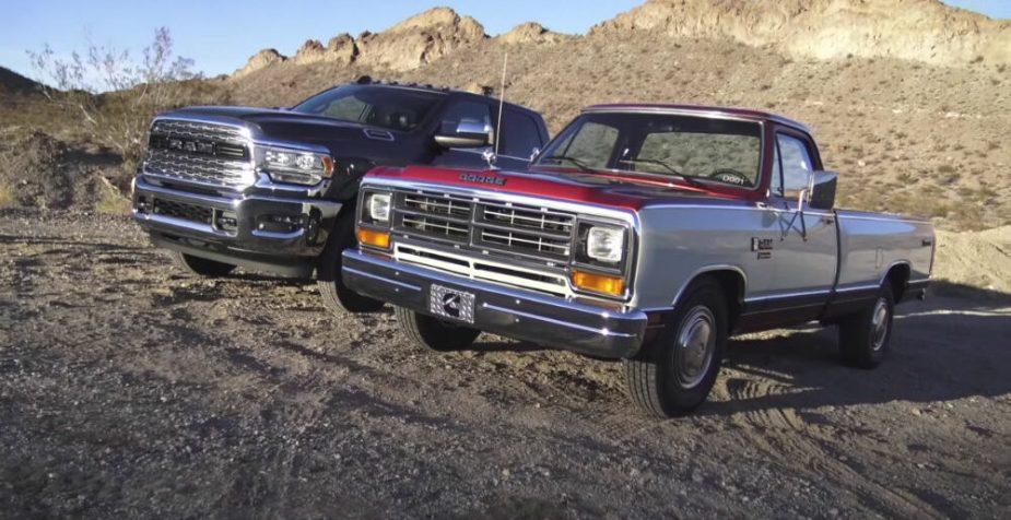2019 Ram 3500 and 1985 Cummins Ram Prototype