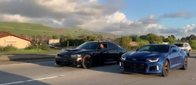 Hellcat Charger with Camaro ZL1
