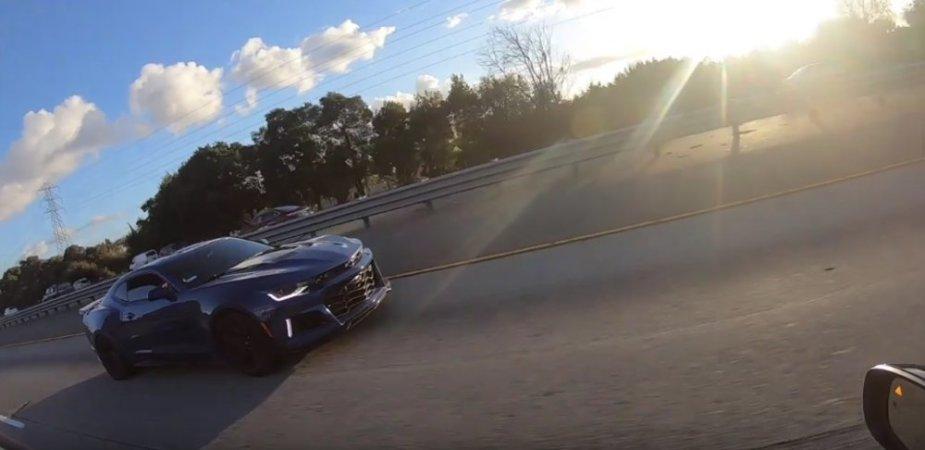 Hellcat Charger Crushing Camaro