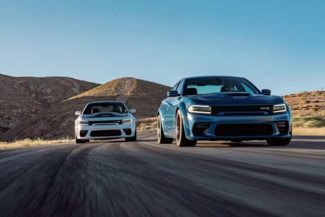The widebody Charger SRT Hellcat is the most powerful.