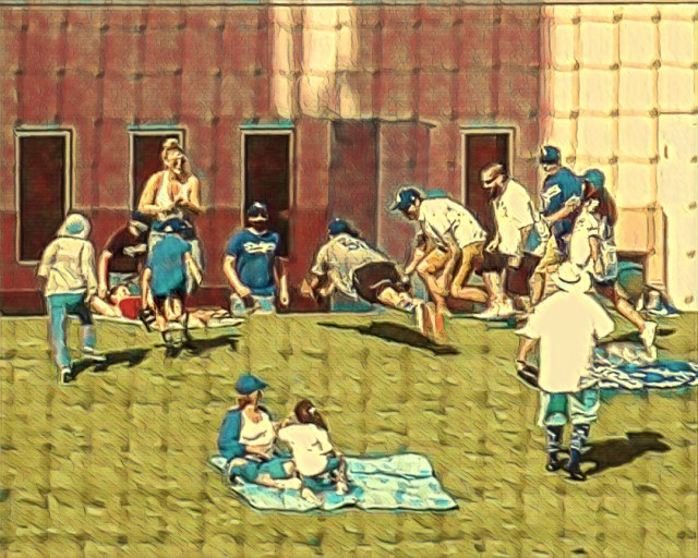Spring Training Painting Fans