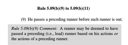 5.09(b)(9) runner rule home run becomes a single