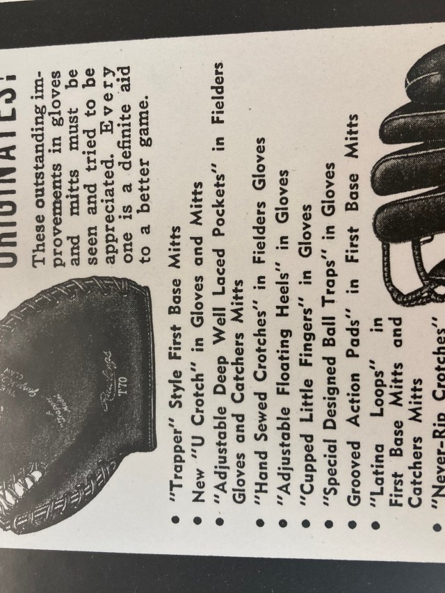 Rawlings Trapper Style historical glove