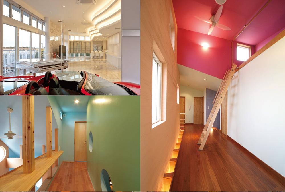 イタリアンカラーを用いた住宅例