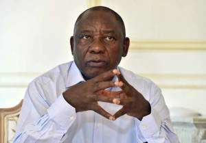 New president Cyril Ramaphosa