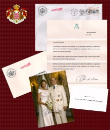 Letter from HSH Princess Charlene of Monaco
