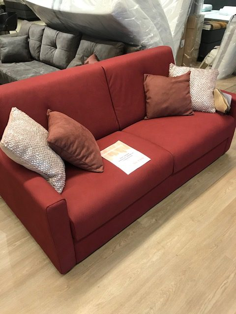 sofabed microvezel rood