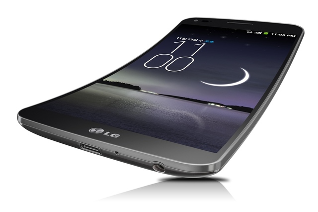 First curve smart phone LG Flex