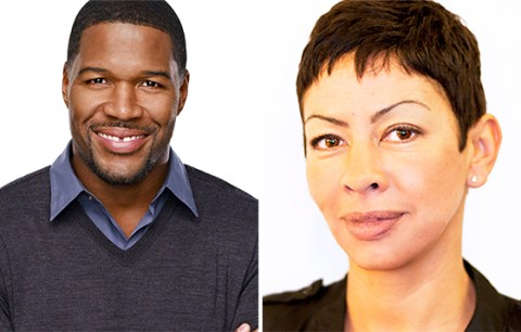 Michael Strahan with his first wife Wanda Hutchins