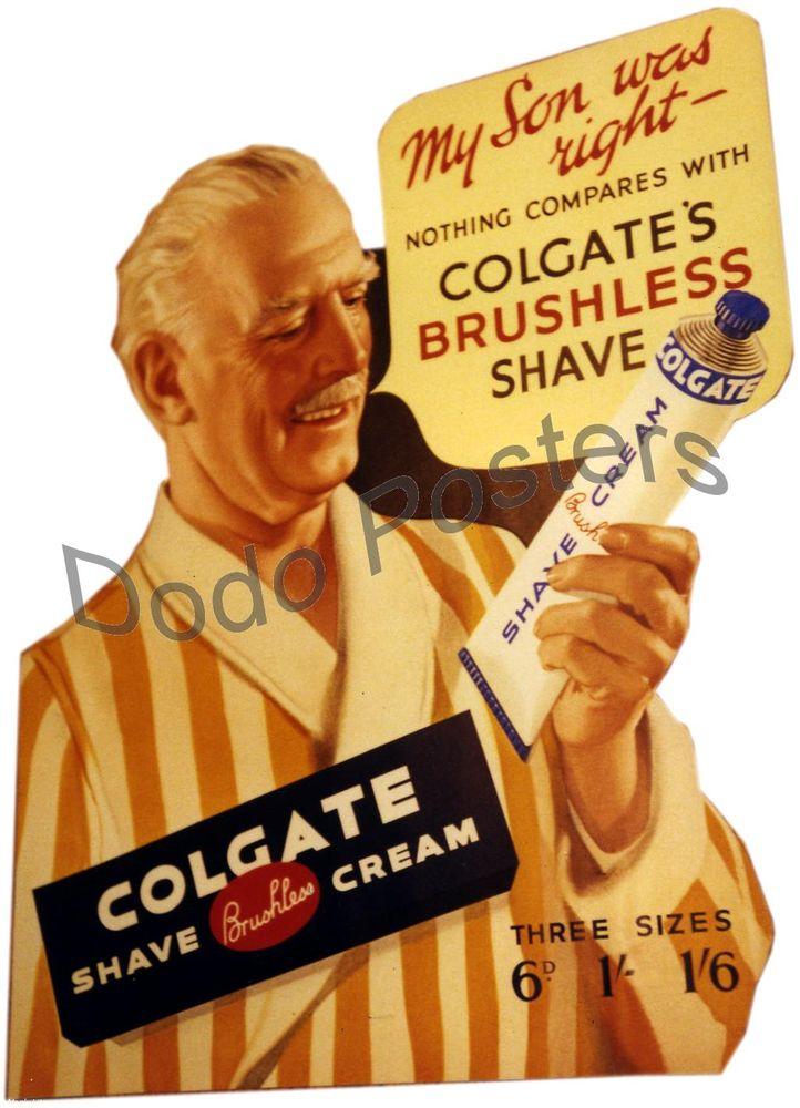 Image result for SHAVING CREAM IN 1950S UK