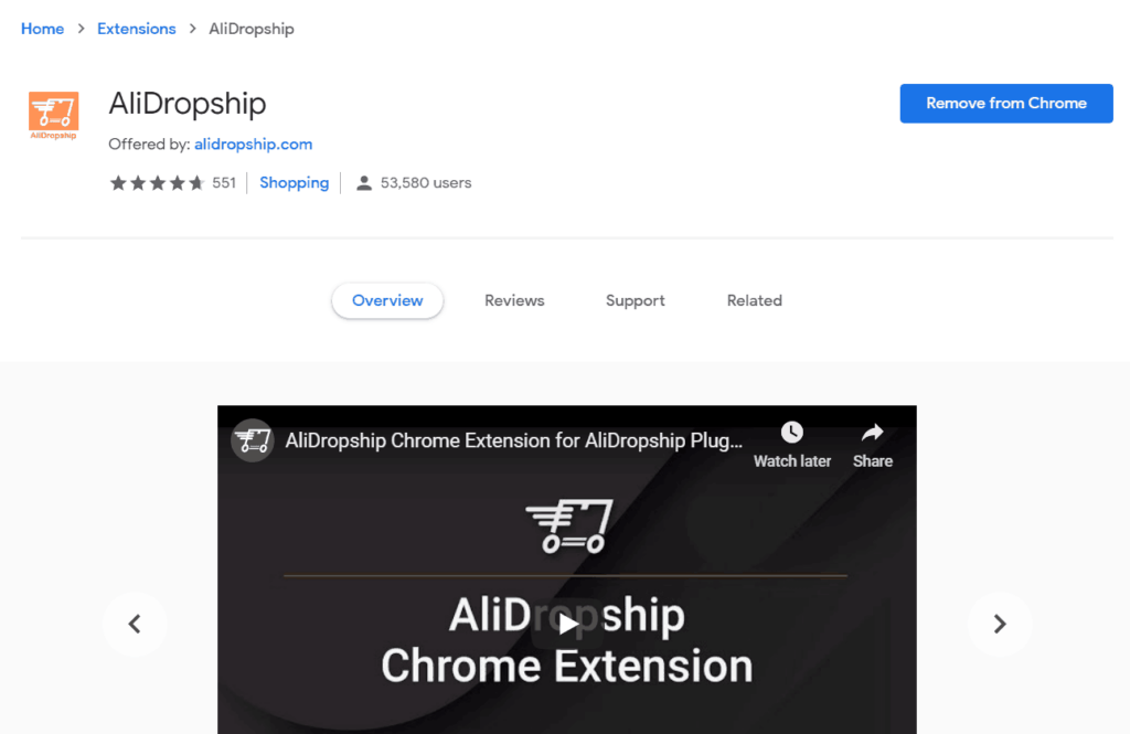Revisión de AliDropship: AliDropship Chrome Extension