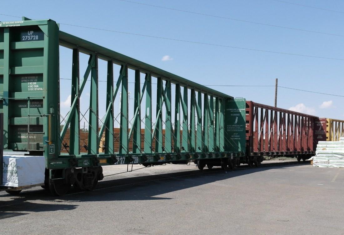 Empty rail cars, Roswell