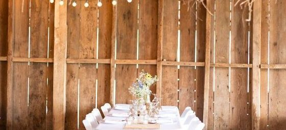 rustic chic barn reception