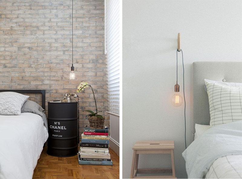 iluminacao luminaria pendente quarto pequeno