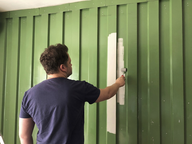 Pintura Parede container