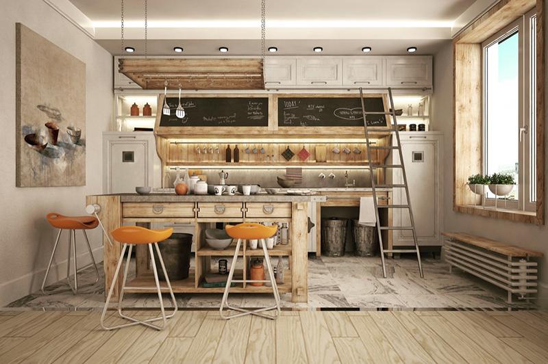 cozinha industrial madeira