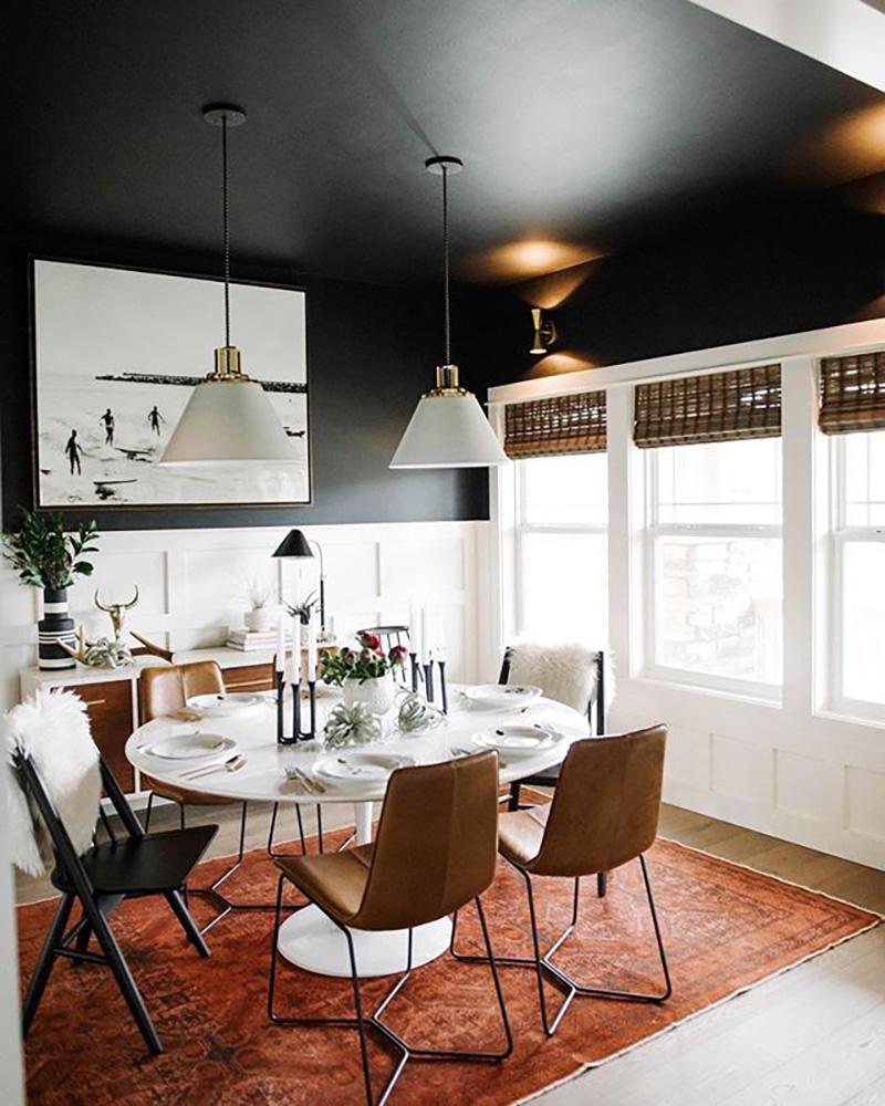 decoração teto preto