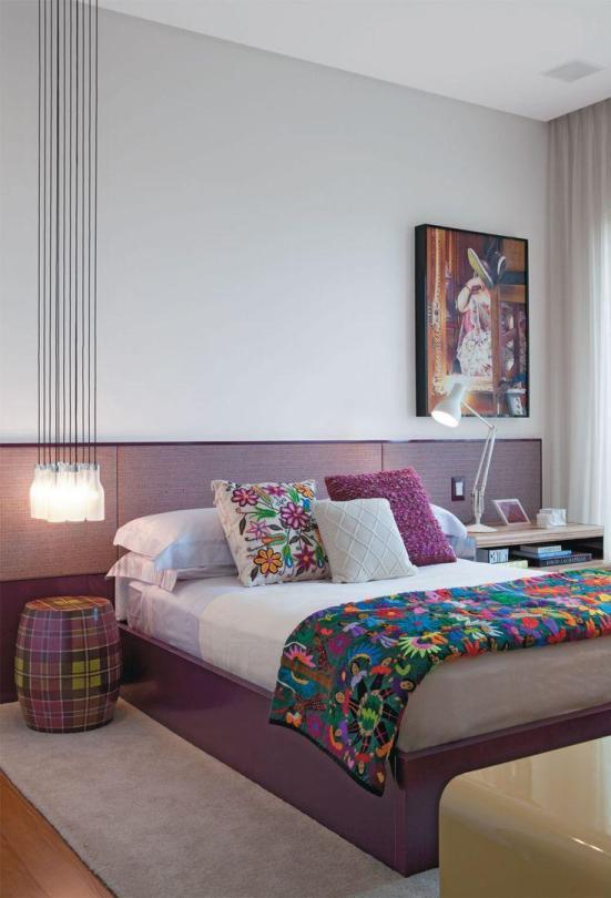 Cores de tinta para quarto: lilás