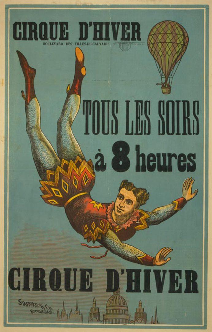 Lambe-lambe com propaganda de circo