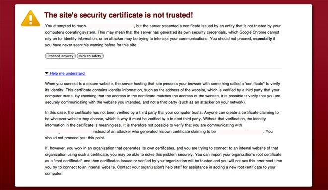 GoDaddy SSL certificate error in google Chrome