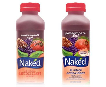 The new Naked Juice label makes use of Comic Sans