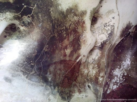 Spiritual Image of God shown in Cave Art in Sulawesi